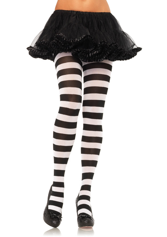 Wide Stripe Opaque Tights