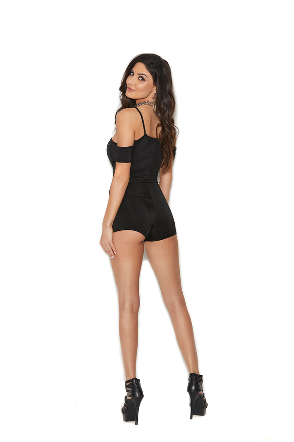 Lycra Romper With Lace Detail