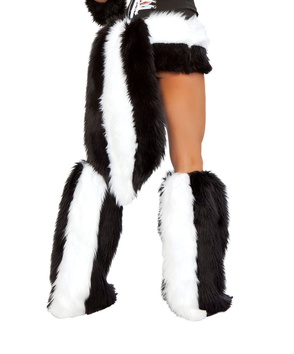 Sexy Skunk Leg Warmers Back JV80085