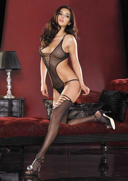 Fishnet Teddy Leg Ave 81208 Black