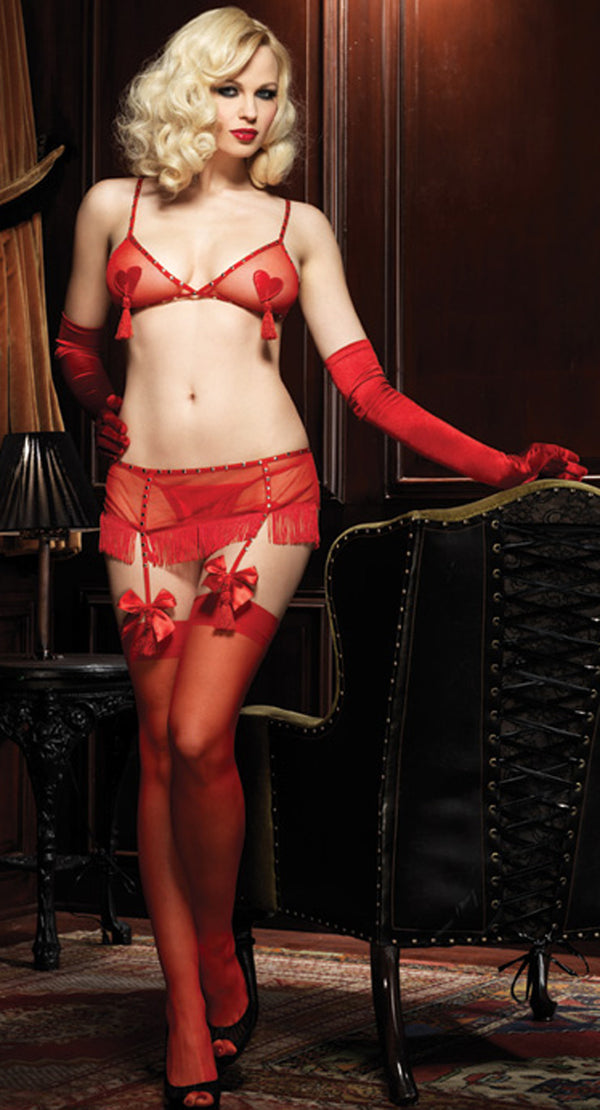 Lolita Mesh Red Lingerie Set LA81257