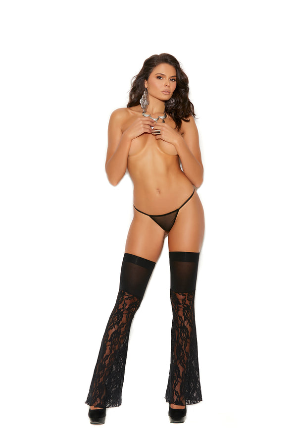 Black Flare Thigh Highs