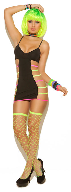 Neon Strapped Mini Dress EM8789