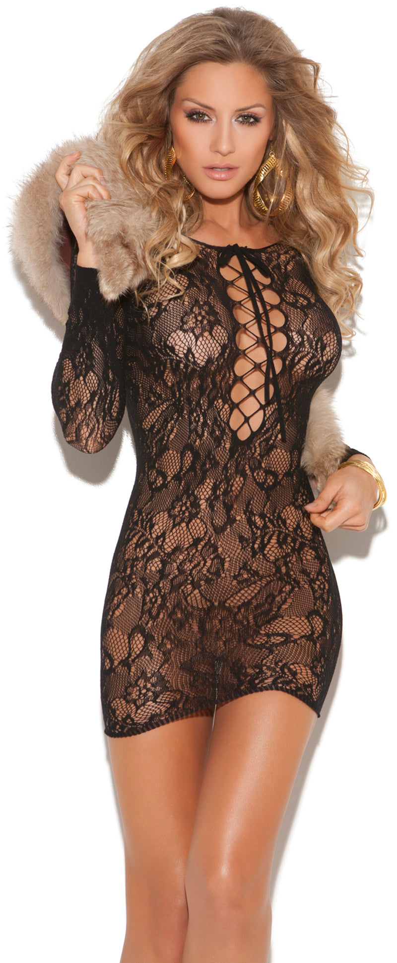 Lace Dress Front EM8799