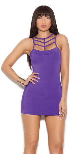 EM-88061 Lycra mini dress