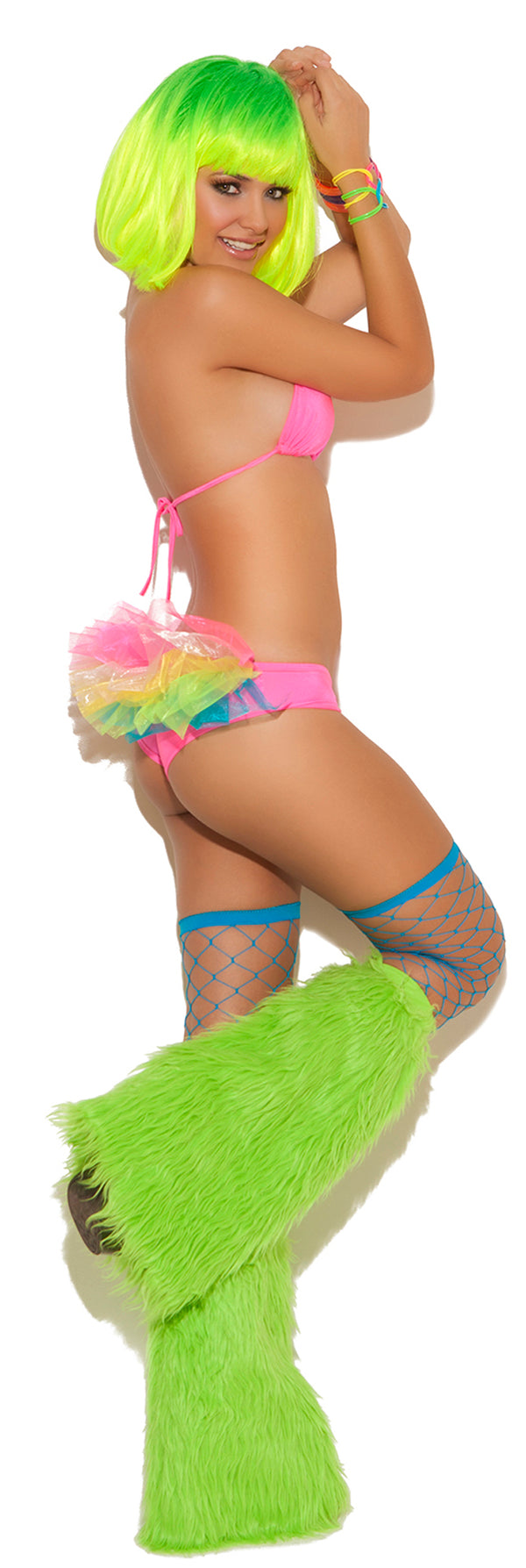 Neon Nites Bra Top with Tutu Panty Front EM8814