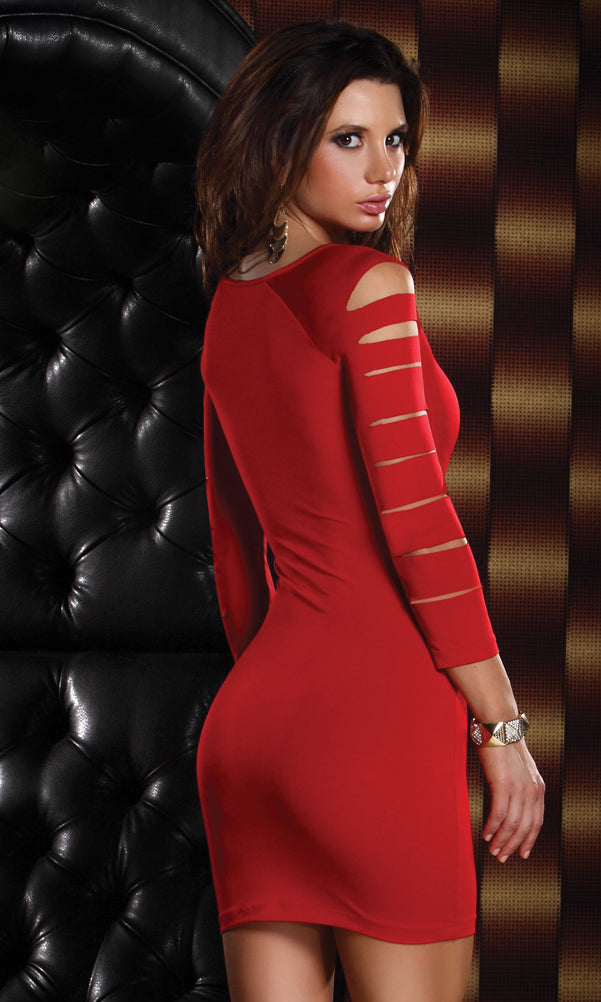 Vicious Mini Dress Red Back FP882513
