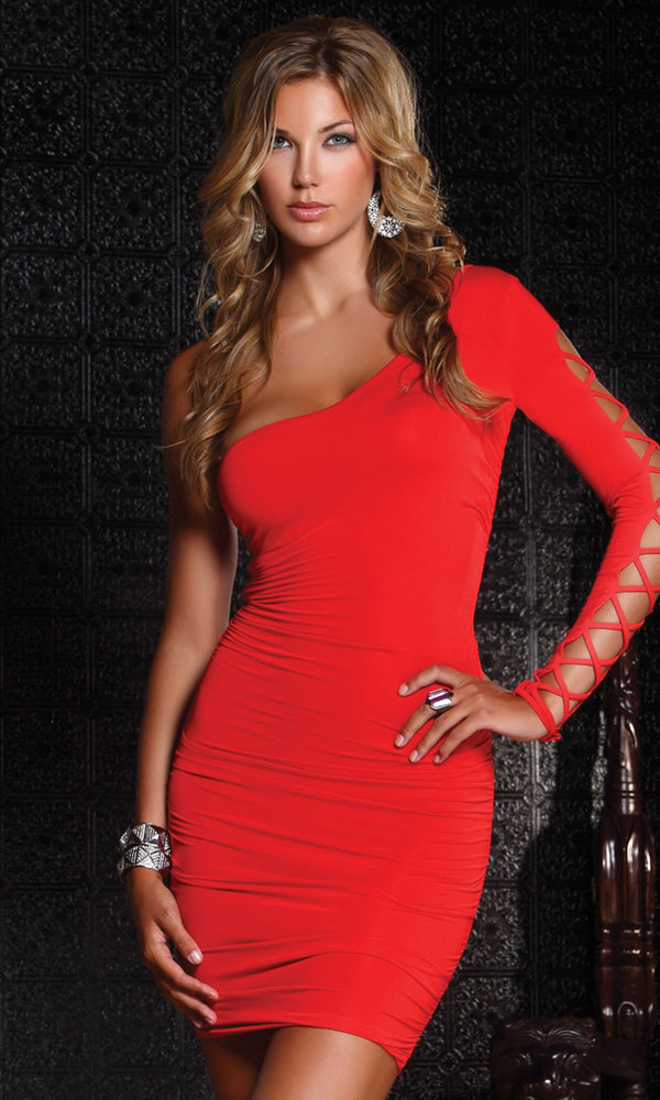 Intermingle Mini Dress Red Front FP882536