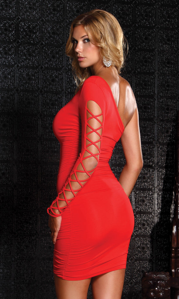 Intermingle Mini Dress Red Back FP882536