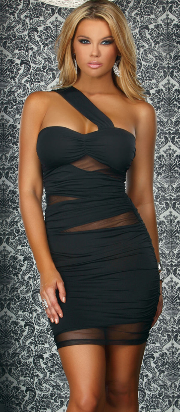 Black Rimini  One Shoulder Front FP883123