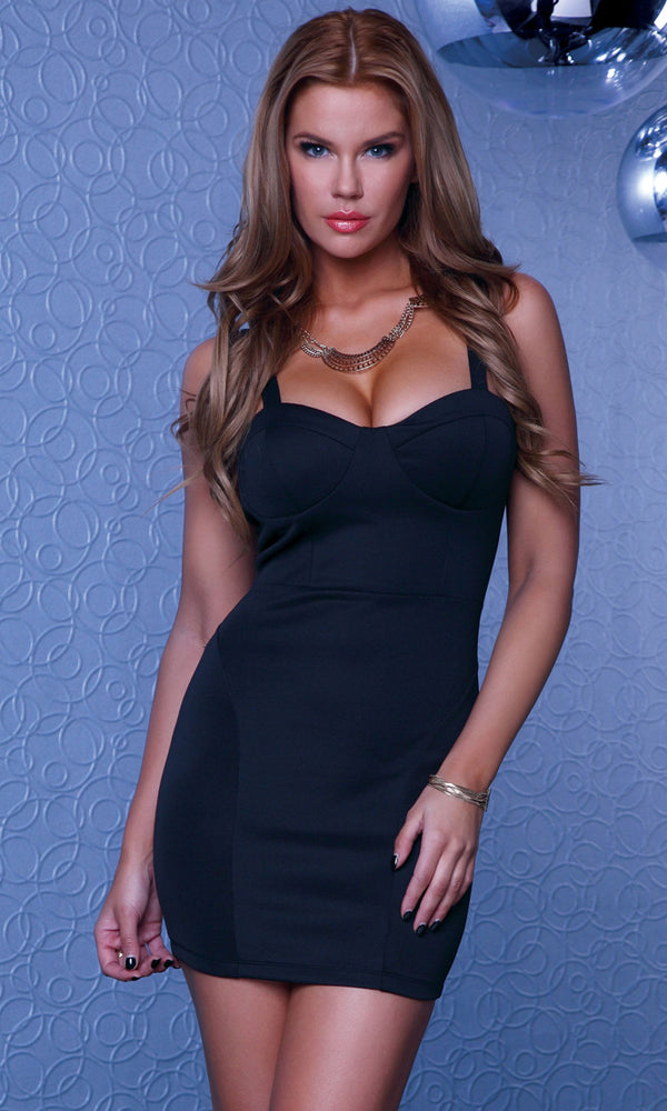 Kozani Mini Dress Black Front FP883748