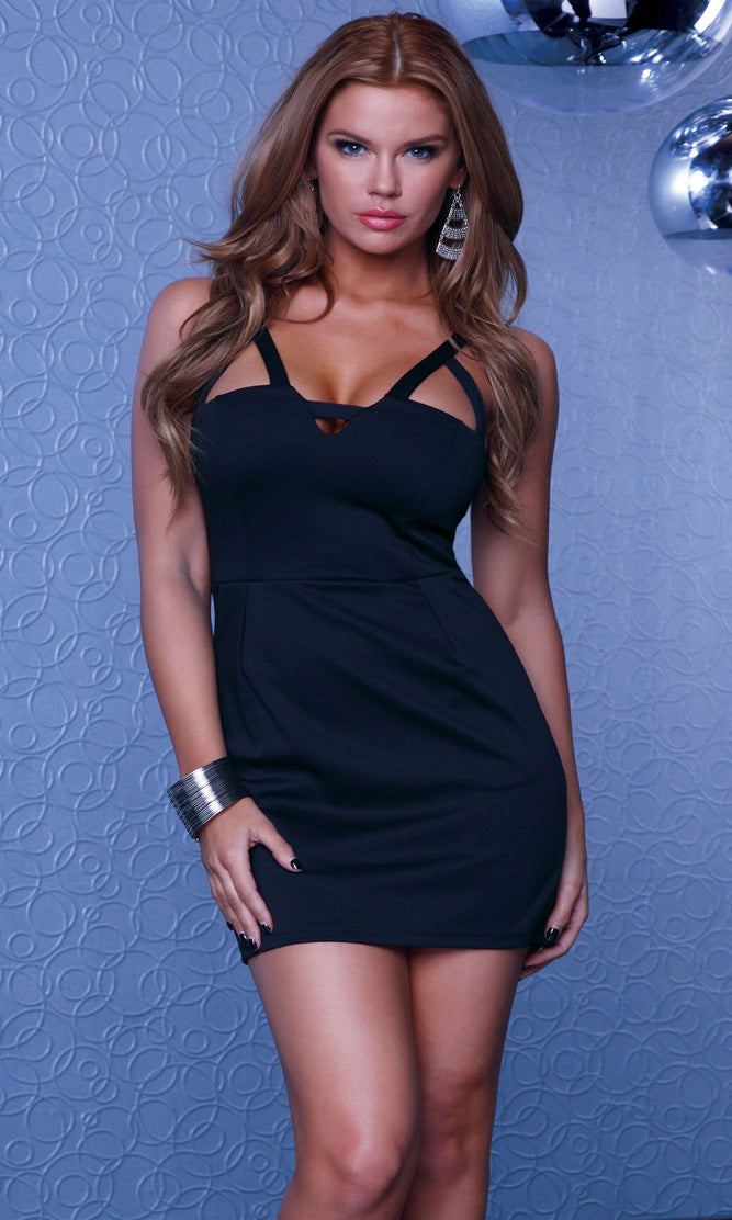 Attica Mini Dress Black Front FP883763