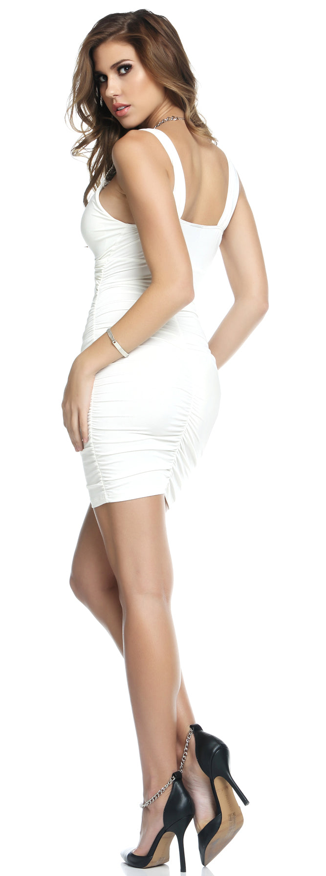 White Novi Scruntch Dress Back FP883832