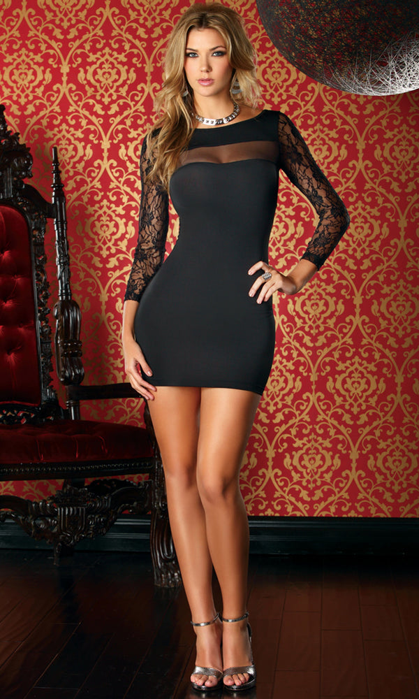 Dali Short Dress Black Full FP883855
