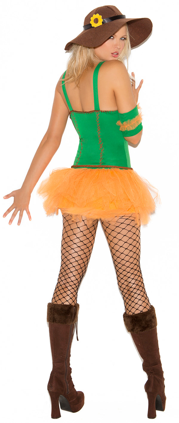 Sunflower Scarecrow Costume Back EM9095