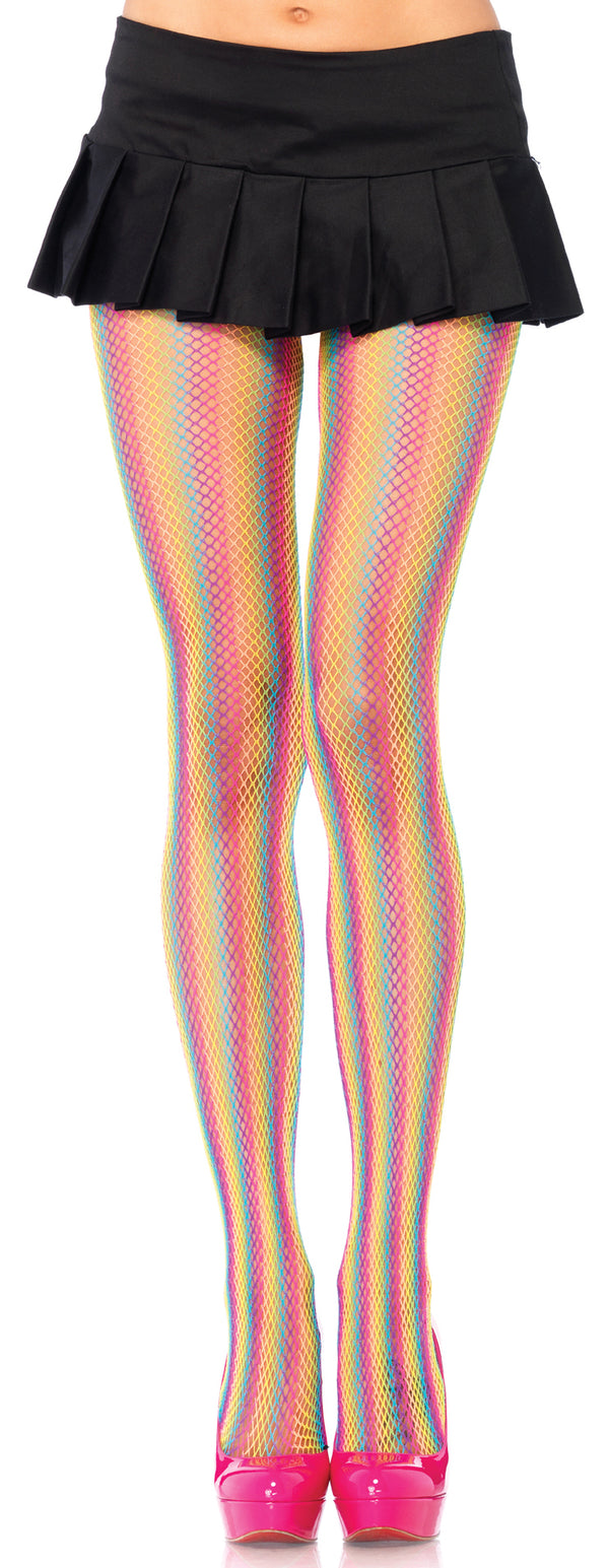Rainbow Fishnet Pantyhose LA9970