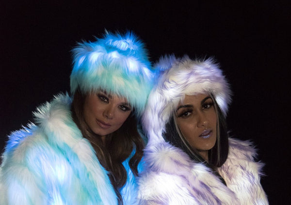 FF970 Light Up Faux Fur Hat