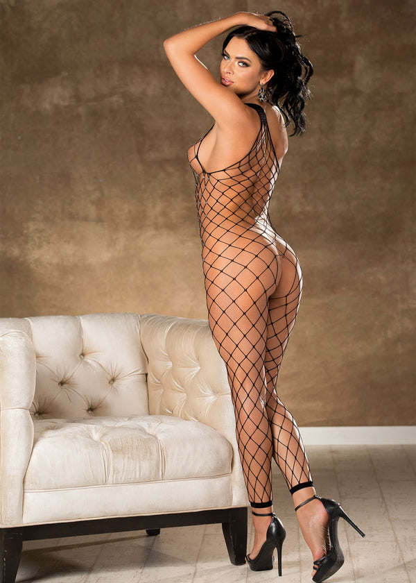 Open Cotch Net Bodystocking