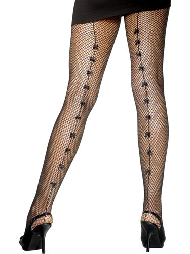 Black Fishnet tights with Back Bows