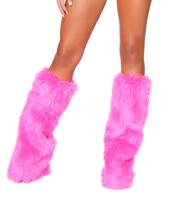 Hot Pink Fur Leg Warmer RMHPC121