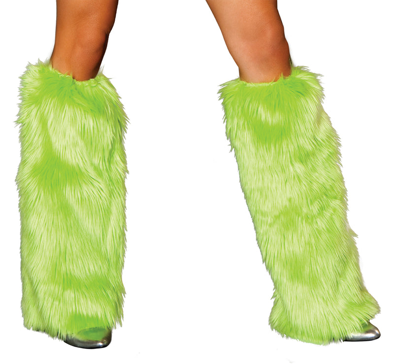 Lime Fur Leg Warmer RMLIMC121