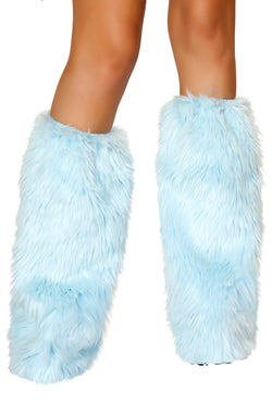 Baby Blue Fur Leg Warmer RMC121BB