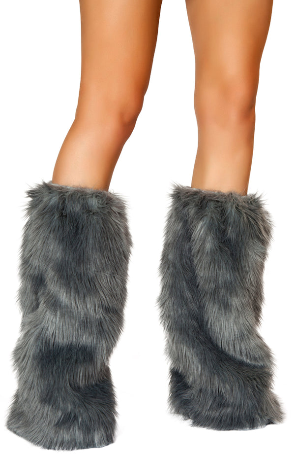 Grey Fur Leg Warmer RMC121GR