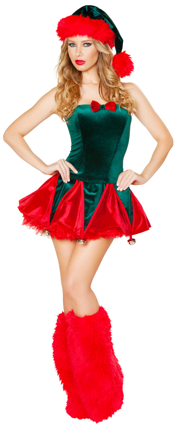 Naughty Elf Christmas Costume Front RMC173