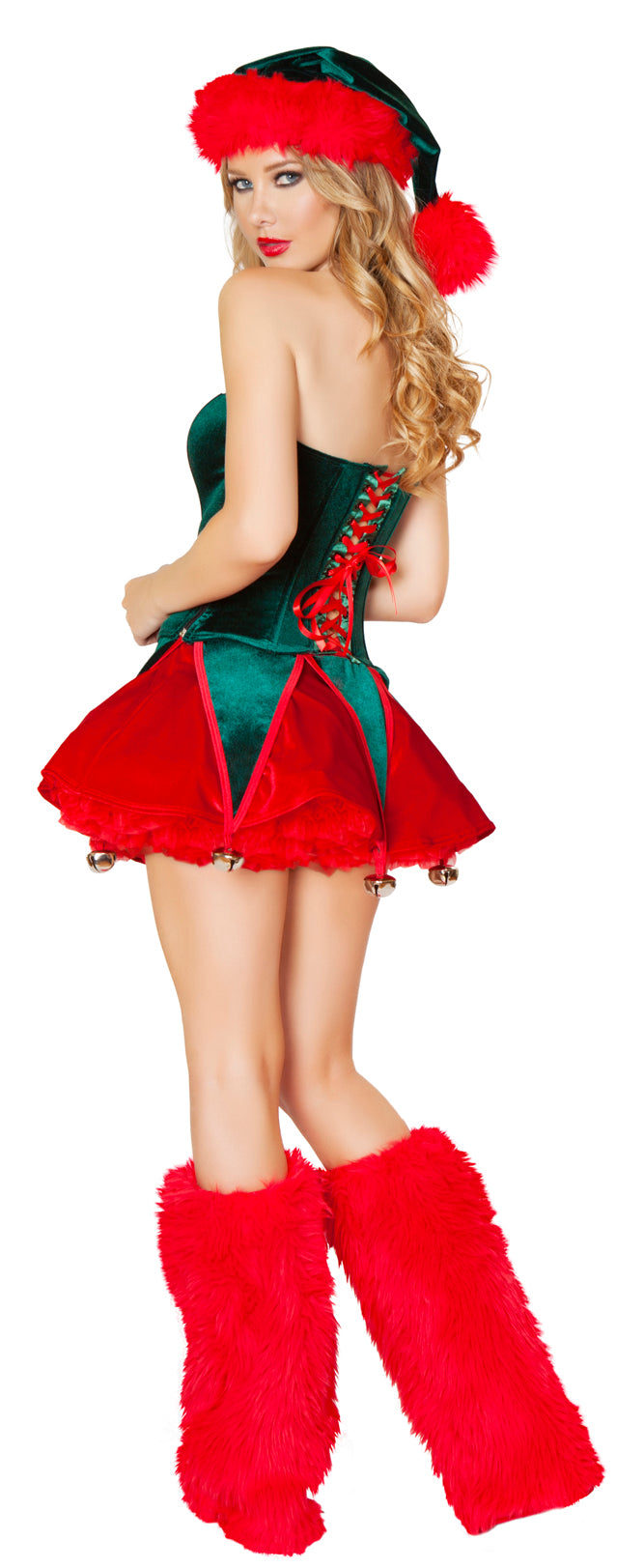 Naughty Elf Christmas Costume Back RMC173