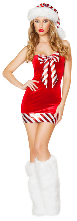 One Piece Santa's Candy Cane Red Front RMC176