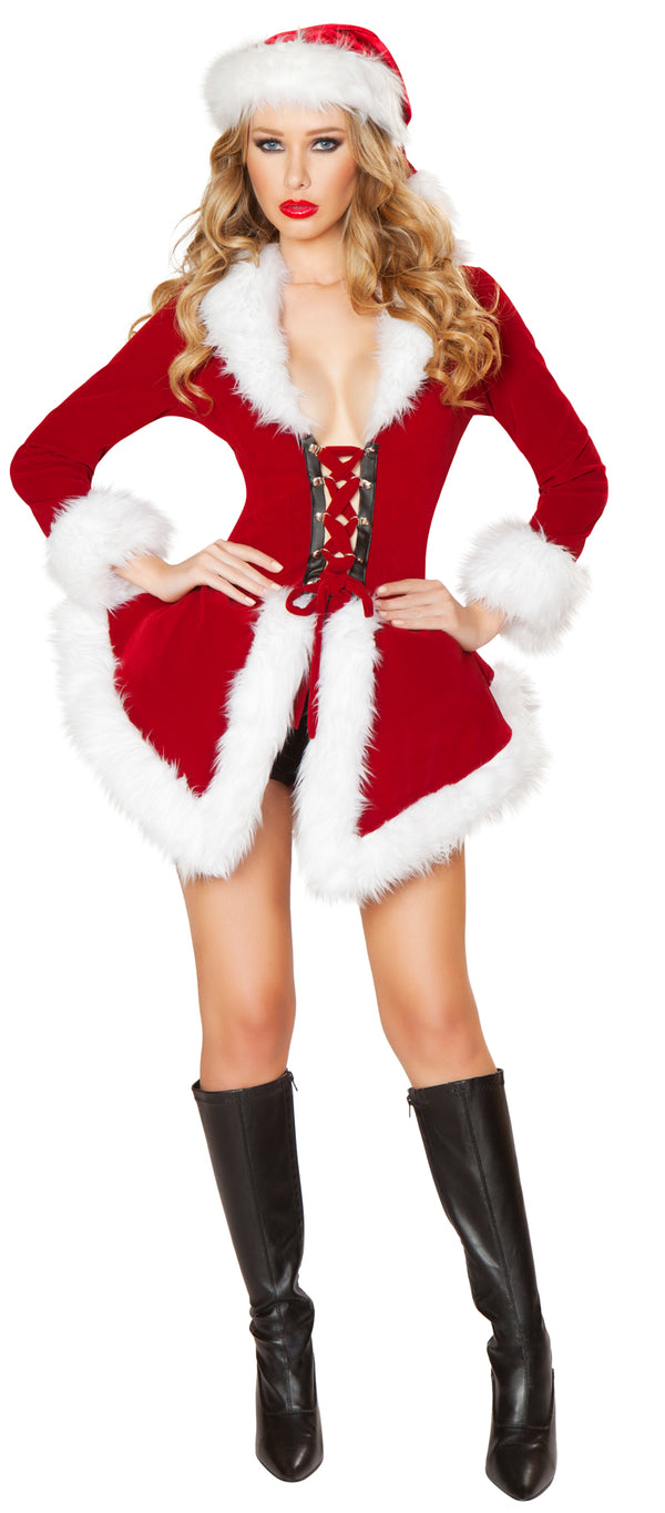 Two Piece Chic Santa Costume Red Front RMC177