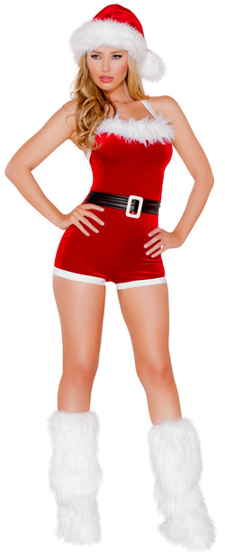 North Pole Brat Romper Christmas Costume RMC185 Front
