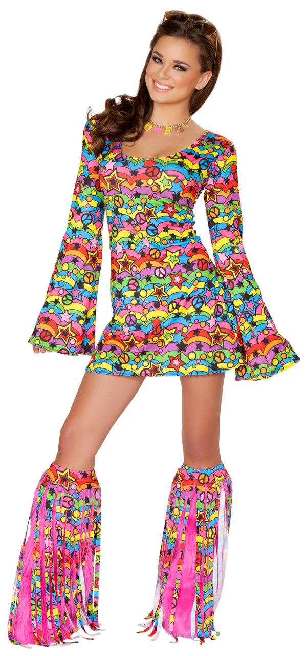 Shaggy Chic Hippie Retro Costume Main JVCA136