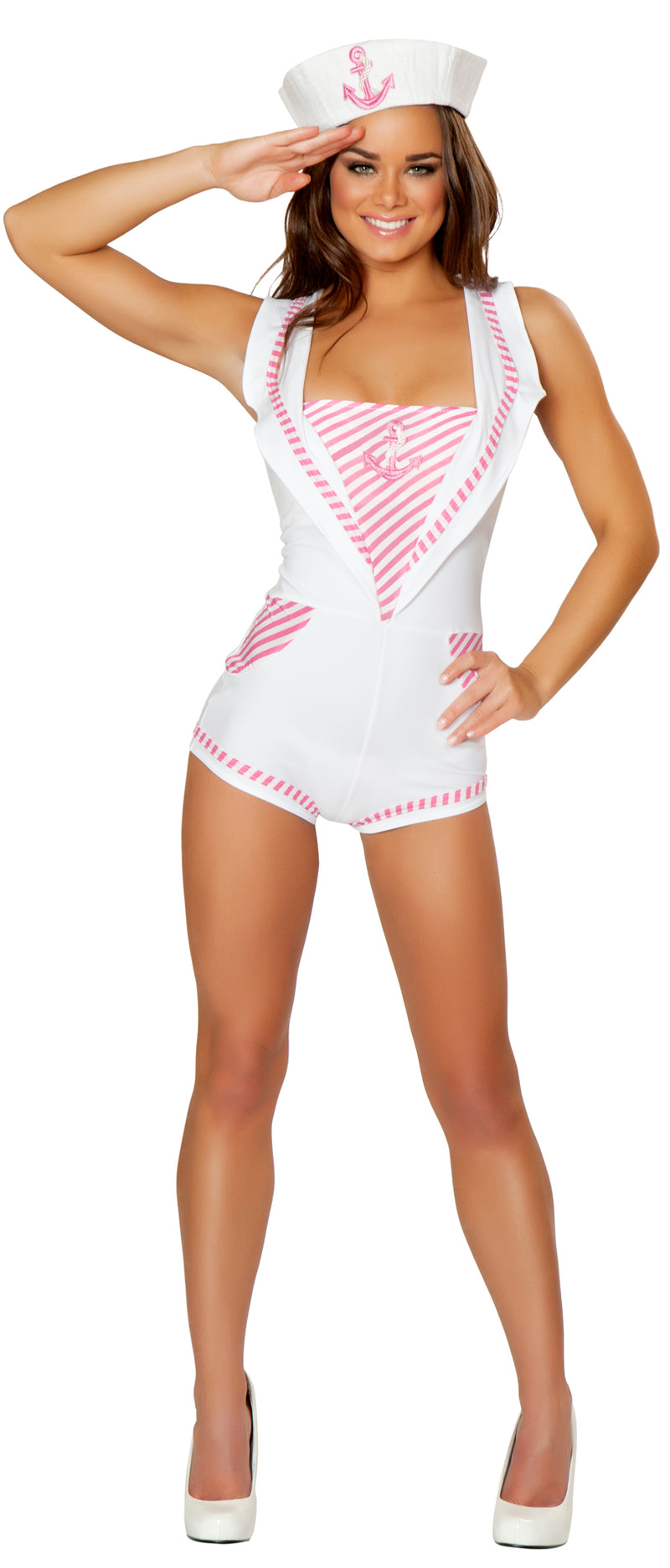 Captain Candy Sailor Romper  Front JVCA158