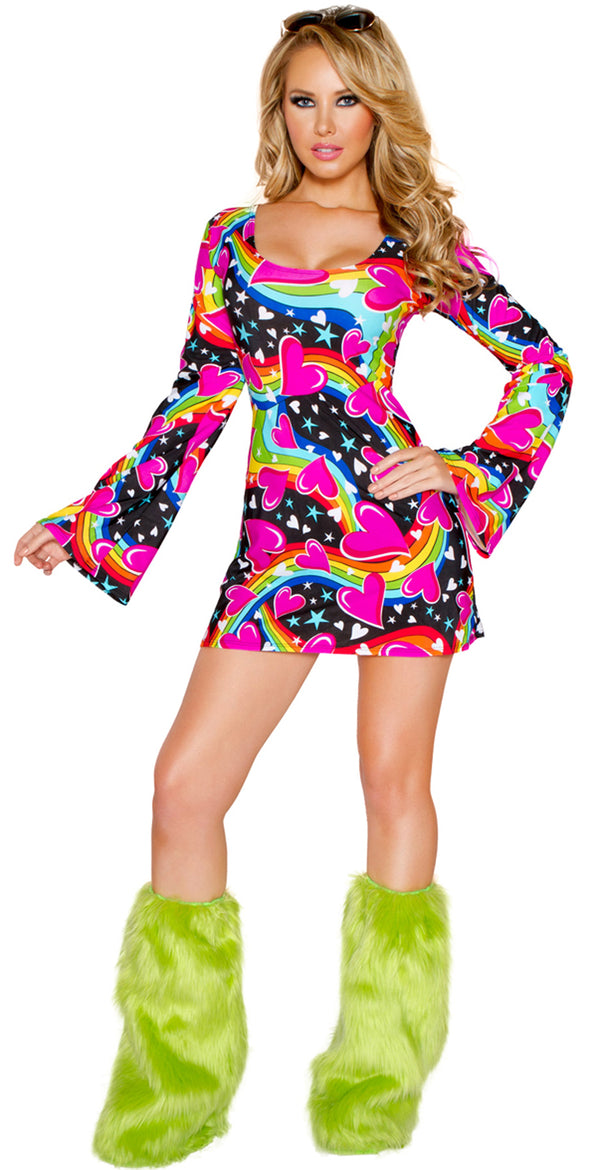 Happy Hippie Costume Dress JVCC232 Front