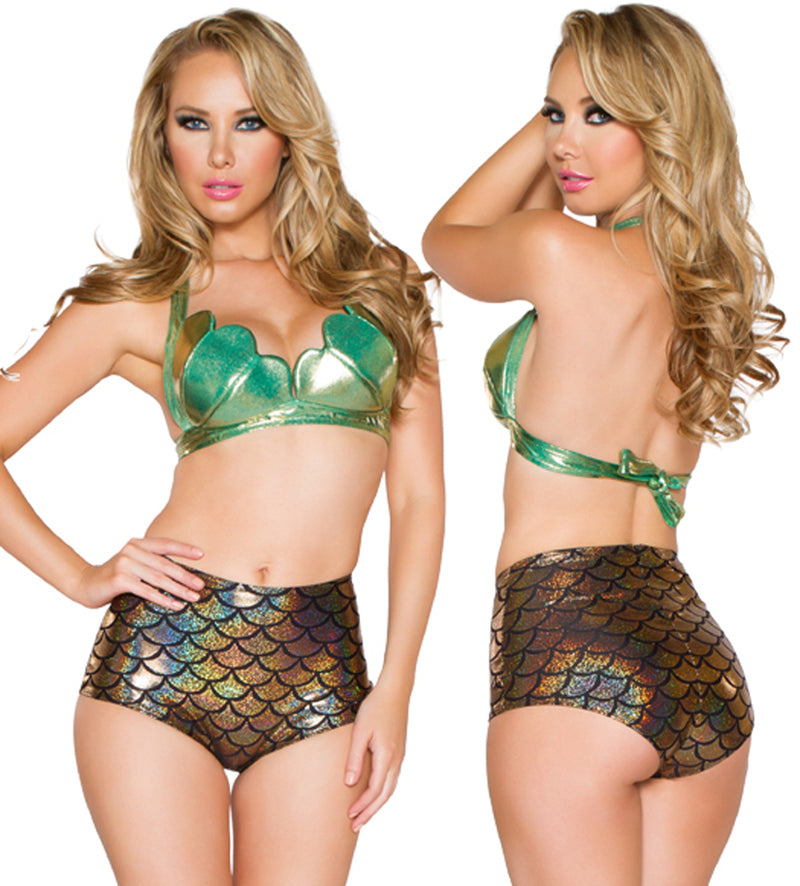 Mermaid Shell Halter Top JVCC400 Green