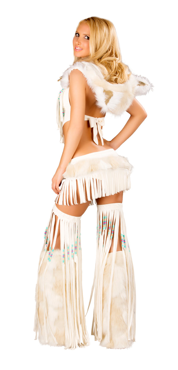 Indian Fringe Top & Skirt Back JVCS220