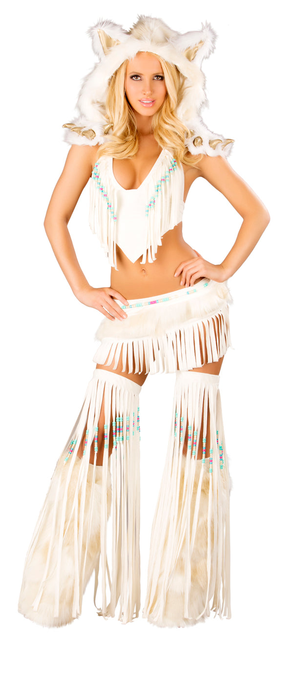 Indian Fringe Top & Skirt Front JVCS220
