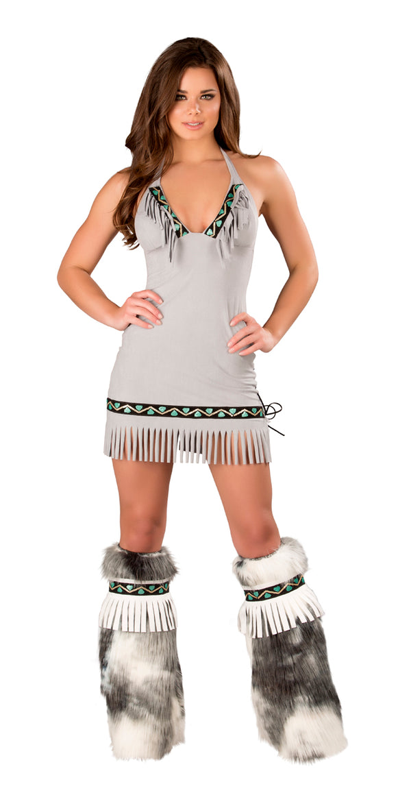 Eskimo Fringe Dress Front JVCS226