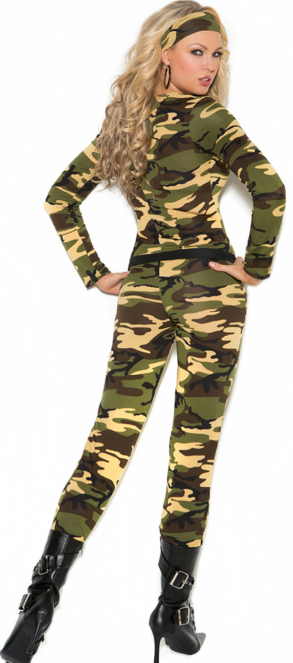 EM-9102 Combat Warrior Army Costume Back
