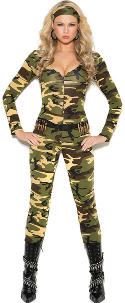 EM-9102 Combat Warrior Army Costume Front