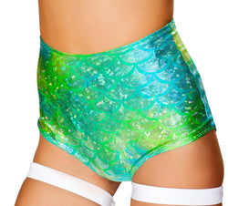 JV-FF803 Light Up Dance Shorts green front