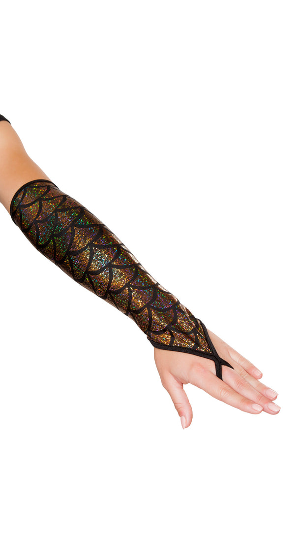 Fingerless Mermaid Gloves RM-GL105 Gold