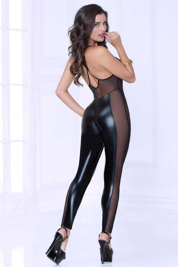 Lame and Mesh Jumpsuit 10964