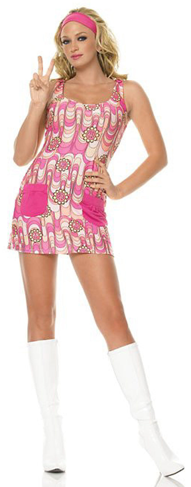 Retro Peace Daisy Costume LA83328