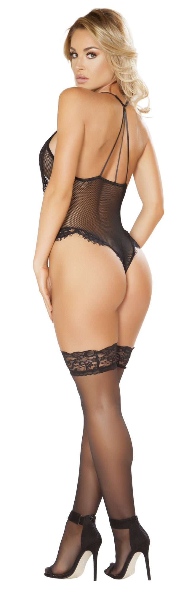 RMLI243 Sheer teddy black back