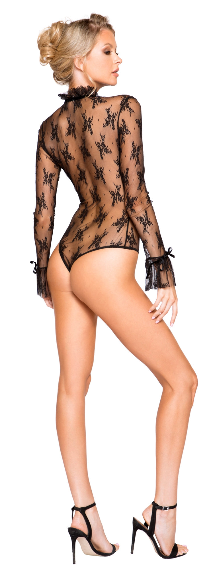 RM-LI248 Long sleeve sheer teddy back