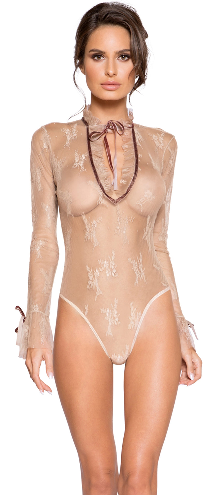 RM-LI249 Long sleeve sheer teddy main