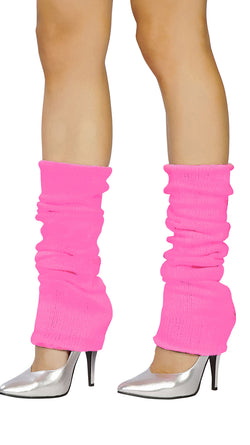 Hot Pink Knit Leg Warmer RMHPLW101