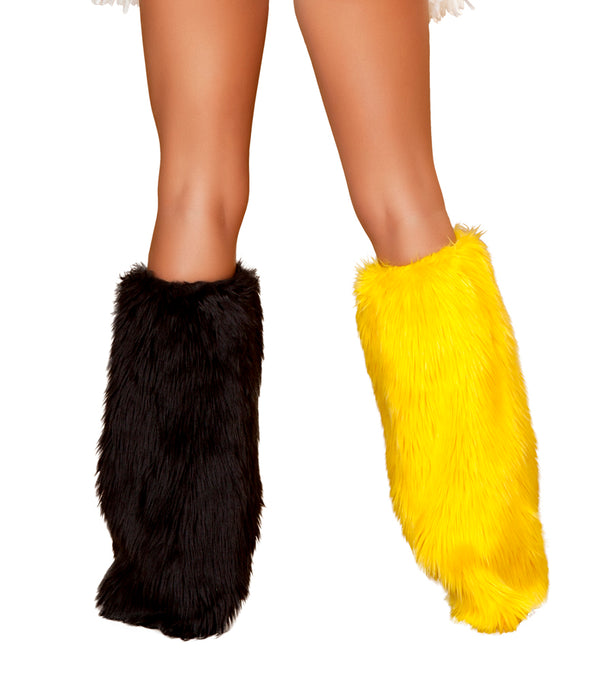 Two Tone Legwarmers Black/Yellow Back RMLW4415